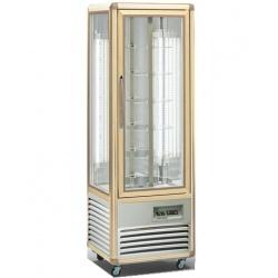 Vitrina frigorifica de cofetarie Tecfrigo Snelle 350 RBT BIS, capacitate 350 l, temperatura +5/-18°C, argintiu/auriu