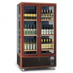 Vitrina de vinuri Tecfrigo ENOTEC 680 1TV/P,capacitate 680 l, temperatura +5/+18°C, maro