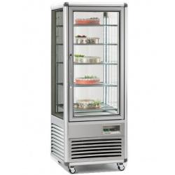 Vitrina frigorifica de cofetarie Tecfrigo Snelle 505 GBT, capacitate 500 l, temperatura -5/-18°C, argintiu
