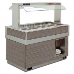 Vitrina frigorifica calda FUTURA 4 VT, temperatura +4/+10C, lemn pin