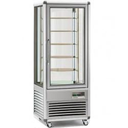 Vitrina frigorifica de cofetarie Tecfrigo Snelle 505 RBT BIS, capacitate 500 l, temperatura +5/-18°C, argintiu