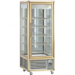 Vitrina frigorifica de cofetarie Tecfrigo Snelle 550 GS, capacitate 550 l, temperatura +4/+10°C, auriu/argintiu