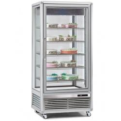 Vitrina frigorifica de cofetarie Tecfrigo Snelle 650 BTV, capacitate 650 l, temperatura -10/-21°C, argintiu