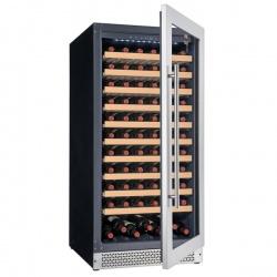 Vitrina vinuri Tecfrigo Sommelier 351 Plus, capacitate 280 l, temperatura +5/+20, negru