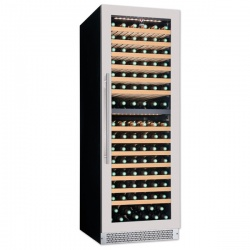 Vitrina vinuri incorporabila Tecfrigo Sommelier 402 Plus, capacitate 387 l, 2 zone temperatura +12+20/ +5+12, negru