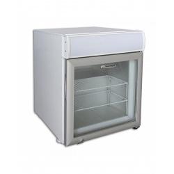 Mini vitrina frigorifica Tecfrigo PUNTOGEL 50 Spot, cu caseta luminoasa, capacitate 50 L, temperatura -18º C, alb