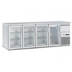 Vitrina frigorifica orizontală Tecfrigo BBX 4V TOP Glass, cu blat de lucru, capacitate 740 l, temperatura +4/+8, argintiu