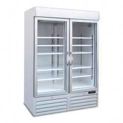 Vitrina frigorifica Tecfrigo POLO 900 GV SPOT, cu caseta luminoasa, capacitate 1078L, temperatura +2/+8°C, alb