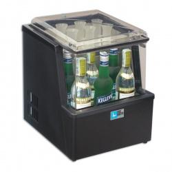 Racitor rapid sticle vodka Tecfrigo VODKA , capacitate 6 sticle si pahare, -1,5 °C pe minut, temperatura -13°C, negru
