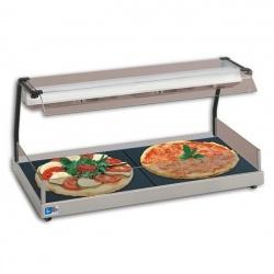 Plita vitroceramica fierbinte pizza cu vitrina prezentare Tecfrigo, +30/+90°C, 270+270W, inox