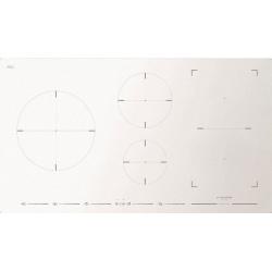 Plita incorporabila Fulgor Milano, FSH 905 ID TS WH, 90 cm, plita inductie, 5 zone gatit, booster, sticla alba