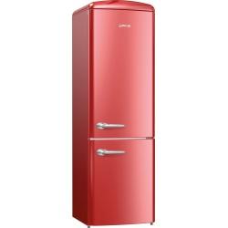 Combina frigorifica Gorenje Retro ORK192R, Frost Less, A++, 326 l, control electronic, Bordo