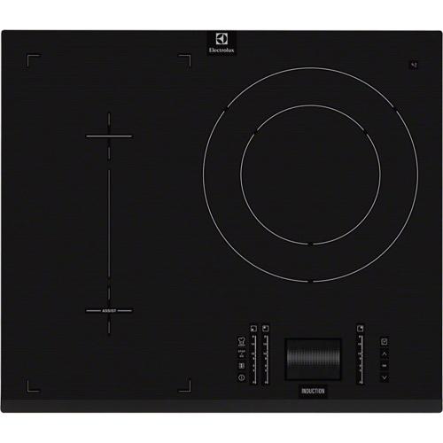 Plita incorporabila Electrolux EHO6832FOG, Inductie, 3 Zone de gatit, Touch control, 60 cm, Negru