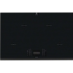 Plita incorporabila Electrolux EHO8840FOG, Inductie, 4 Zone de gatit, Touch control prin culisare, 78 cm, Gri inchis