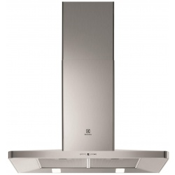 Hota incorporabila semineu Electrolux EFF90560OX, Putere de absorbtie 603 mc/h, 1 motor, 2 viteze+2 intensiv, 90 cm, Inox