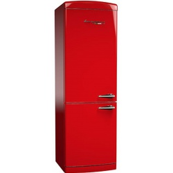Combina frigorifica Retro Bompani BOCB698/R, Clasa A+, 316 litri, Latime 60 cm, Rosu