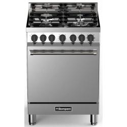 Aragaz Bompani Tech BO643CA/N, 60x60 cm, gaz, 4 arzatoare, aprindere electronica, grill, inox