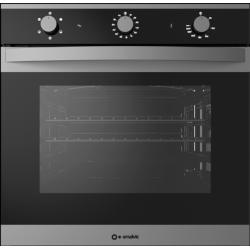 Cuptor gaz incorporabil Smalvic LINEAR FI-74GEVTC, 60cm, 74l, grill electric, inox si negru