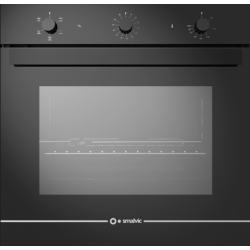 Cuptor gaz incorporabil Smalvic GLASS NERO FI-74GEVTC, 60cm, 74l, grill electric, negru
