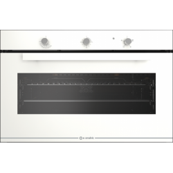 Cuptor gaz incorporabil Smalvic GLASS BIANCO FI-95GEVT, 90cm, 110l, grill electric, alb