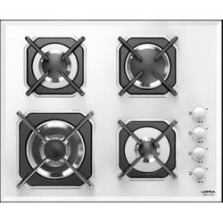 Plita incorporabila Lofra Mercurio HGB6H0, 60 cm, plita gaz, 4 arzatoare,sistem siguranta Stop-Gaz,sticla alba