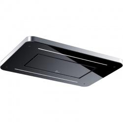 Hota de tavan incorporabila Baraldi Stivia soffitto 01STVSO090STB, 90 cm, motor Kube 900 m3/h, sticla neagra/inox