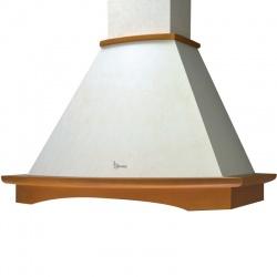 Hota rustica decorativa Baraldi Tosca 01TOS090WH70NT, 90 cm, 700 m3/h, alb retro
